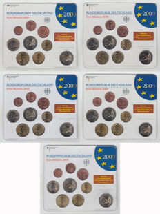 Germany - Year packs 2009 A, D, F, G and J (5 in total)
