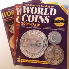 Accessories, Krause and Mishler catalogue of world coins, editions 1901-2005, 2001-2007 and 2001-2009 (three items)