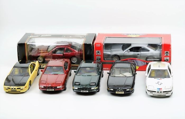 Various brands - Scale 1/18 - Lot with 7 BMW 850 Models
