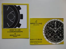 Rare Breitling instruction booklet - 2 pieces - from the 1960s