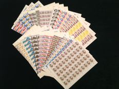 The Netherlands 1980 - Complete year set in sheets of 100 pieces