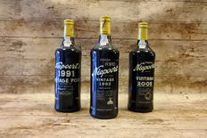 1991 & 1992 & 2005 Vintage Port Niepoort – 3 bottles