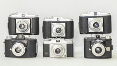 8 vintage cameras - 7x Agfa and 1x Zeis Ikon