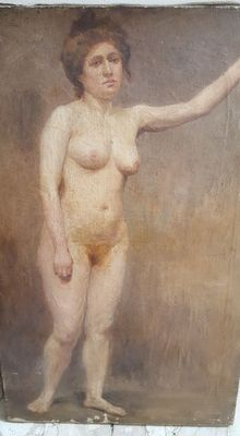 Unknown (19th century) - Portrait Nude Lady