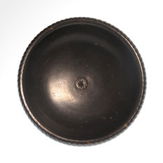 Greek Apulian Black Glazed Bowl - 8 cm D