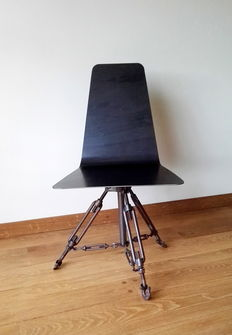 Industrially designed chair