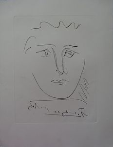 Pablo Picasso (after)- Visage pour Roby