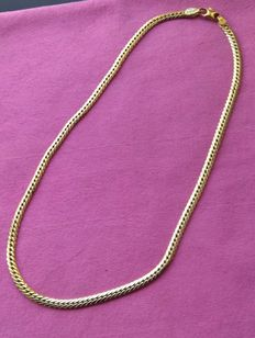 Necklace in 18 kt yellow gold, palm links, 11.40 g.