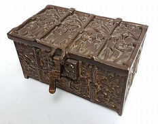 Solid bronze antique French apostle box - early 20th century
