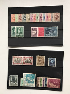 Belgium 1920/1960 – Selection of stamps and series on insert sheets