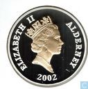"Alderney 5 pounds 2002 (PROOF) ""Queen Elizabeth II - 50 Years of Reigh"""