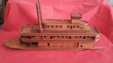 20th century wood boat River