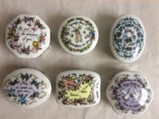 """Lot of 6 Franklin Mint music boxes """"songs of love"""""""