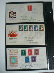 The Netherlands 1955/1963 - Collection FDCs - NVPH E22 to E60