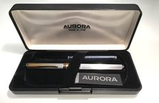 Magellano Aurora, 925 Silver and 14kt gold fountain pen