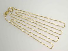 18k Gold Necklace. Chain Forced. Length 45 cm.