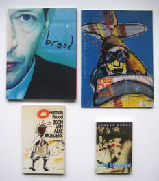 Herman Brood; Lot with 4 publications - 1990 / 2001