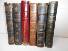 Lot of 6 books of French authors of the 18th & 19th century - 1826/1865