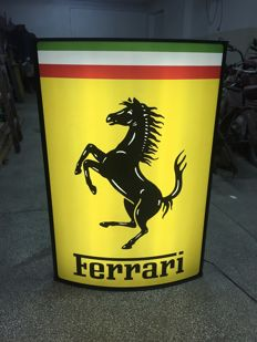 Big Exclusive Ferrari 101 x 70 x 15cm Illuminated - advertising  Lightbox 90s