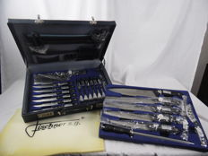 Fischner S.G. 24 piece knife set (hardened steel) packed in Diplomats carrying case