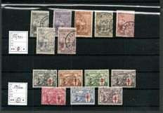 Belgium - Selection stamps and series between 1932 and 1957
