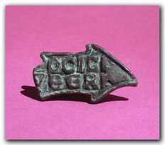 Byzantine Bread Bronze Seal, Shape of a Fish, 5.8 cm L