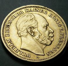 German Empire, Prussia - 20 Mark 1883 A - gold