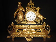 Beautiful 19th century standing  clock