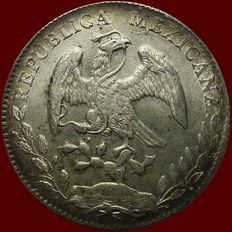 Mexico - 8 Real 1882 Mo MH - silver