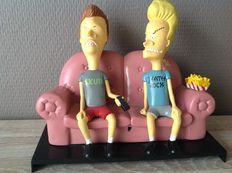 Beavis and Butthead - MTV Networks - interactive IR remote control responding couch - 21cm - 1996