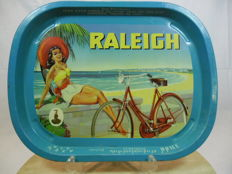 Exclusive, unique, rare and original Raleigh bicycle advertising tray from the 1950s/60s