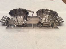 Sugar and cream set 1930 George Nilsson silver plated