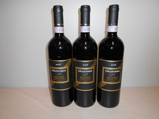 Lot of 3 bottles: 2006 Colpetrone Gold, Montefalco Sagrantino DOCG – 93 /100 James Suckling rating.