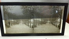 Ten black and white photography glass plates circa 1920
