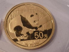 China - 50 Yuan von 2016 - China Panda - Gold