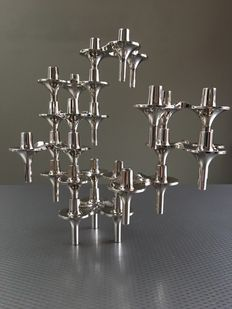 Ceasar Stoffi & Fritz Nagel for BMF - Modular candlesticks, 9 pieces