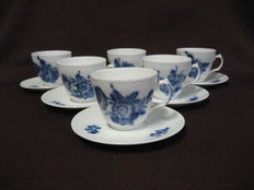 6 cups & saucers by Royal Copenhagen