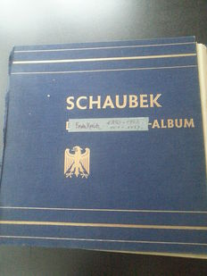 France - Collection in old Schaubek album from 1850 - 1964