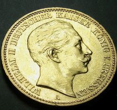 German Empire, Prussia - 20 Mark 1899 A - gold
