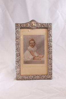 Photo frame with silver boarder -  Birmingham  - England - 1898