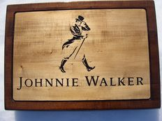 Johnnie Walker - Big unique handmade sculpting logo made from wood - 39,5 cm x 55 cm