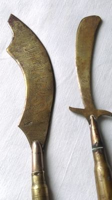 lot of 2 paper knives WW1 /-craft manufacturing poilu