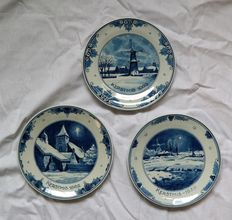The Porceleyne Fles,Delft - 3 Christmas wall plates