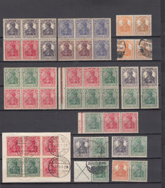 Imperial Germany, 1910–1920 – set of blocs and pairs from postage stamp booklets