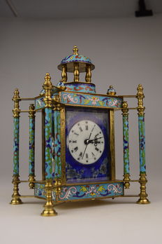 Cloisonné clock - 2nd Part of the 20th century