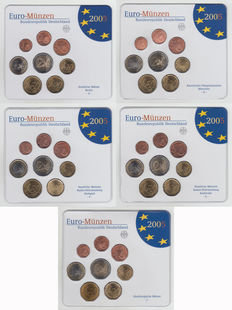 Germany - Year packs 2005 A, D, F, G and J (5 in total)