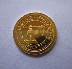 Spain – Juan Carlos I – 5th centenary of the discovery of America – 5000 gold pesetas – 1992 – Madrid, minting press, rare coin