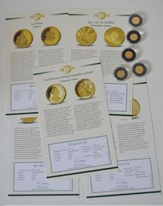 World - Lot of assorted coins 2007 and 2008 (5 kinds) - gold