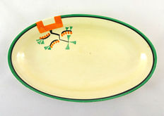 Clarice Cliff for Newport Pottery - ' Bizarre ', ' Ravel ' pattern, 2 dishes and 4 plates