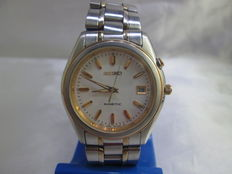 SEIKO KINETIC model 5M42-0H20 Gents Stainless Steel Wrist Watch - c.1996